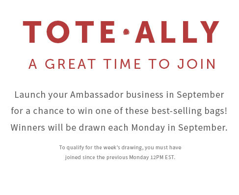 Join in September and win a bag